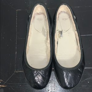 UGG Antora Patent Leather Ballet Shoes